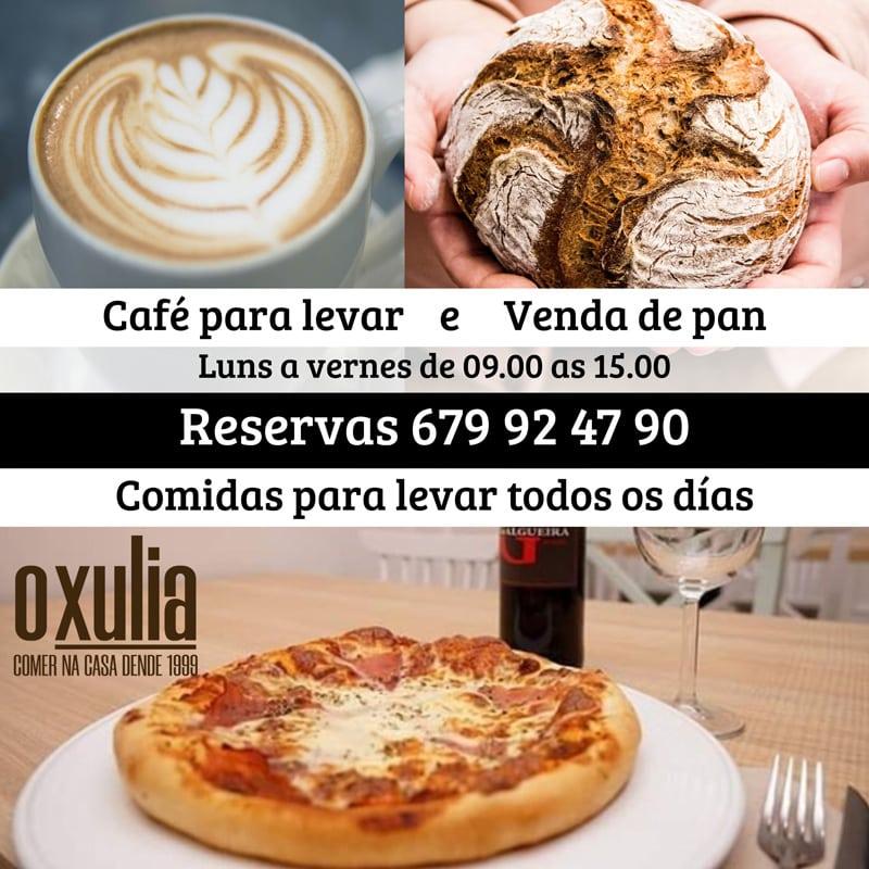 Cafe e comidas para levar restaurante O Xulia
